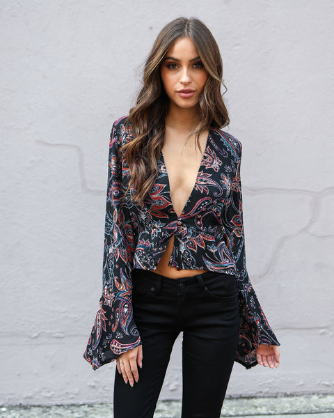 Wondrous Paisley Blouse