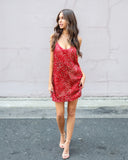 Untamed Velvet Dress - Red