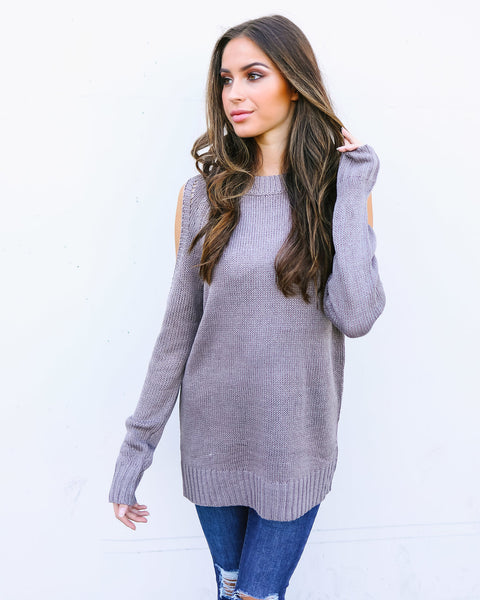 Mina Cold Shoulder Sweater