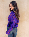 Plumful Wrap Blouse