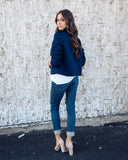 Giovanna Moto Jacket - Navy