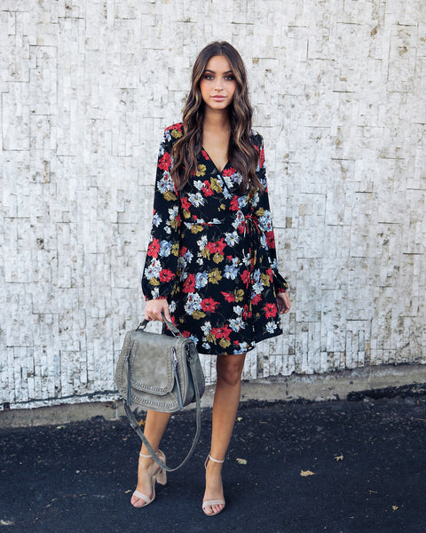 Talma Floral Wrap Dress