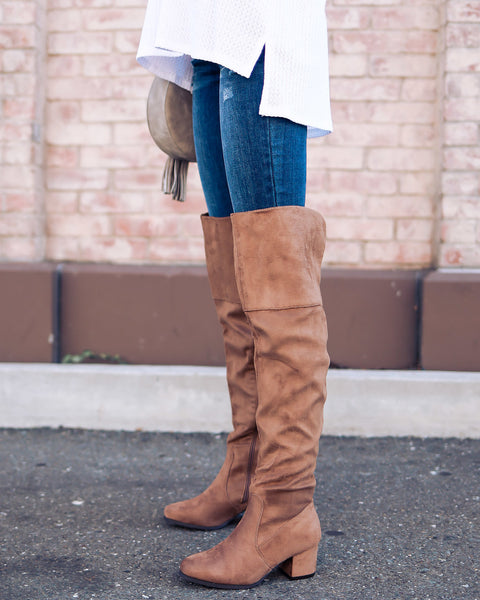 High Road Over The Knee Boot - Taupe