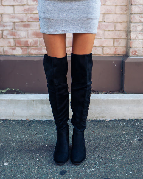 High Road Over The Knee Boot - Black