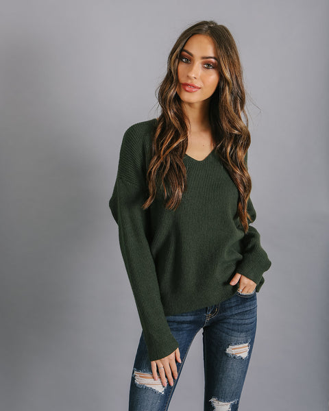 Fern Twist Back Sweater