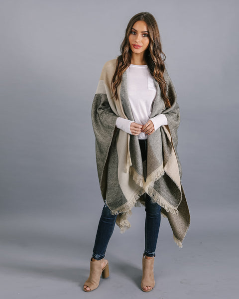 Deer Valley Hooded Poncho