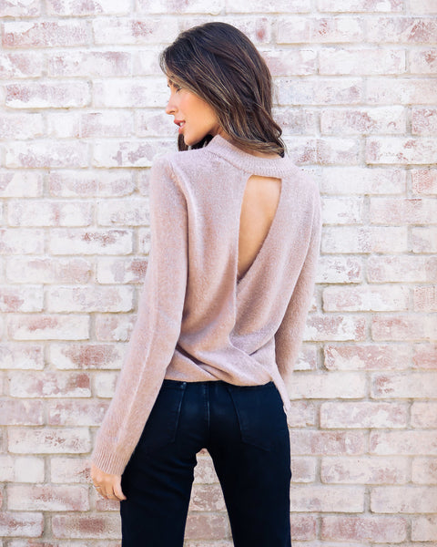 Peekaboo Tencel Sweater - Light Mocha