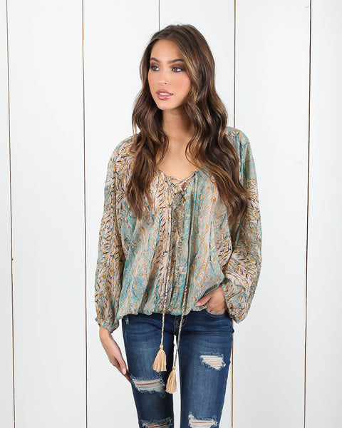 Truth Lace Up Blouse