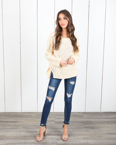 Silent Night Cotton Sweater