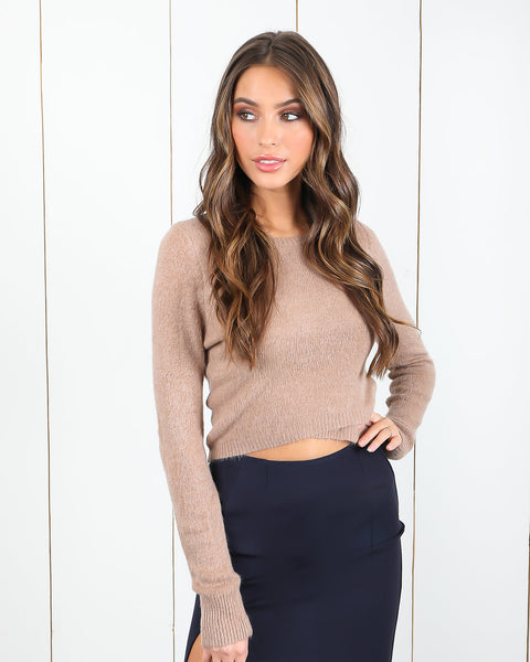 Bring Up The Heat Sweater - Light Mocha
