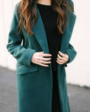 Enchanted Forest Pocketed Trench Coat