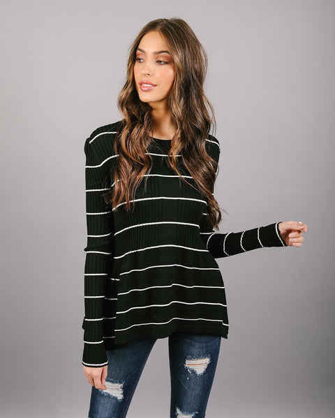 Lucy Striped Knit Top