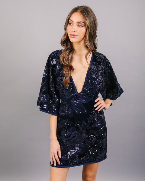 Lost In The Night Sequin Dress