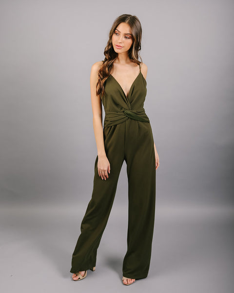 Get In The Groove Jumpsuit - Olive
