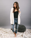 Cuddly Wuddly Hooded Cardigan - Winter White