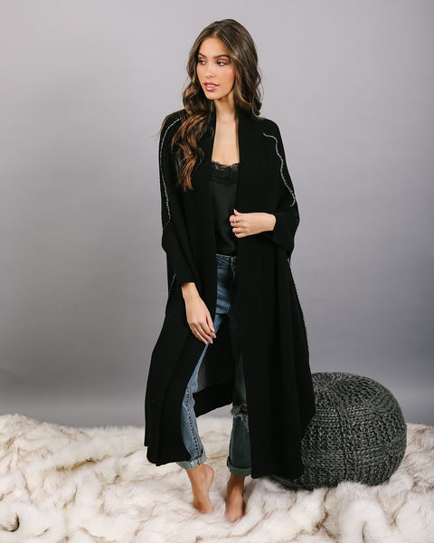 Lovegood Cashmere Blend Reversible Duster Cardigan