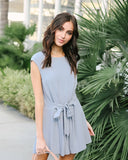 Fontanne Tie Romper - Grey - FINAL SALE