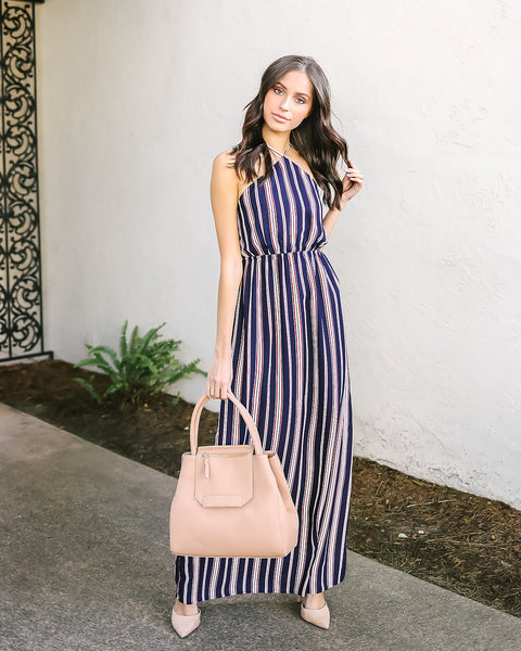 Lolinda Striped Maxi Dress
