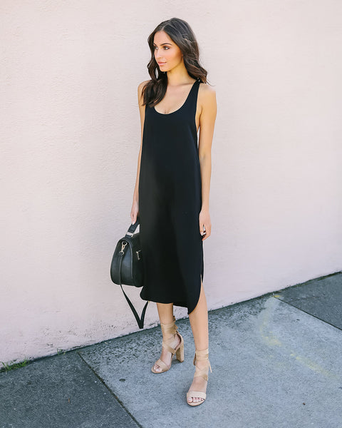 Minimalist Tank Dress - Black