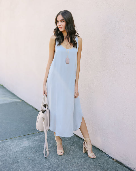Minimalist Tank Dress - Light Grey