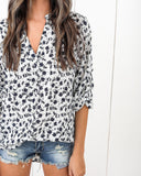 Floral City Blouse