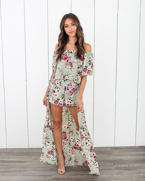 Elara Floral Maxi Shorts - FLASH SALE
