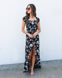 Into The Night High Low Maxi Dress