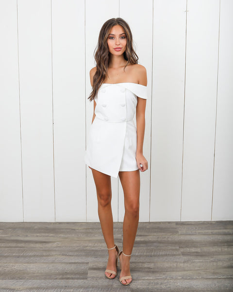 Have It All Romper - Ivory - FINAL SALE