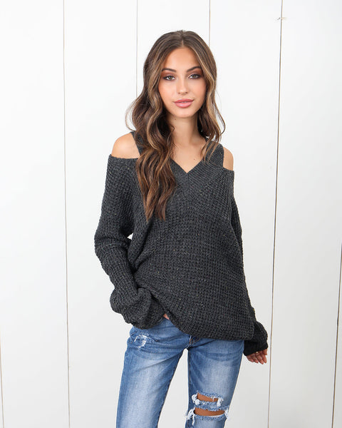 Sprinkle Me Sweater - Charcoal