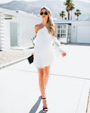Campbell Cold Shoulder Dress - Off White - FINAL SALE