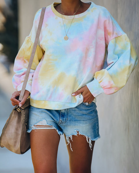 Pursuit Of Happiness Cotton Tie Dye Pullover