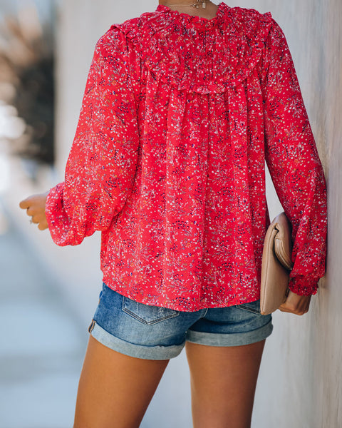 Half Of My Heart Smocked Floral Blouse