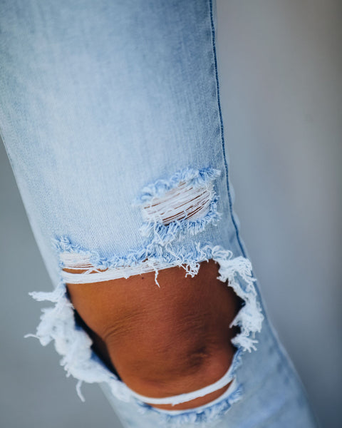 Mallorca Mid Rise Distressed Skinny - FINAL SALE