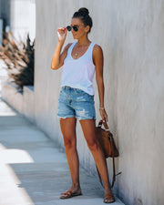Indio High Rise Cuffed Denim Shorts