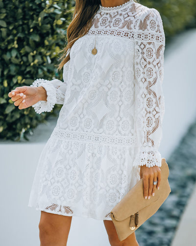 Miss You Most Crochet Lace Dress