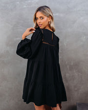 Canyon Pocketed Tiered Babydoll Dress - Black - FINAL SALE view 2