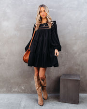 Canyon Pocketed Tiered Babydoll Dress - Black - FINAL SALE view 11
