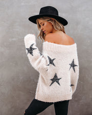 Celeste Off The Shoulder Knit Star Sweater view 2