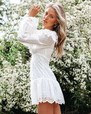 Cheers Cotton Embroidered Eyelet Mini Dress view 7