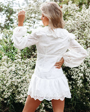 Cheers Cotton Embroidered Eyelet Mini Dress view 2