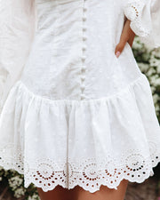 Cheers Cotton Embroidered Eyelet Mini Dress view 4