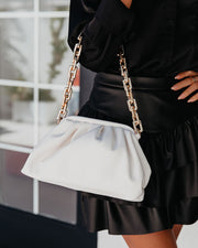 Chic Crossbody Chain Pouch Bag - Cream view 2