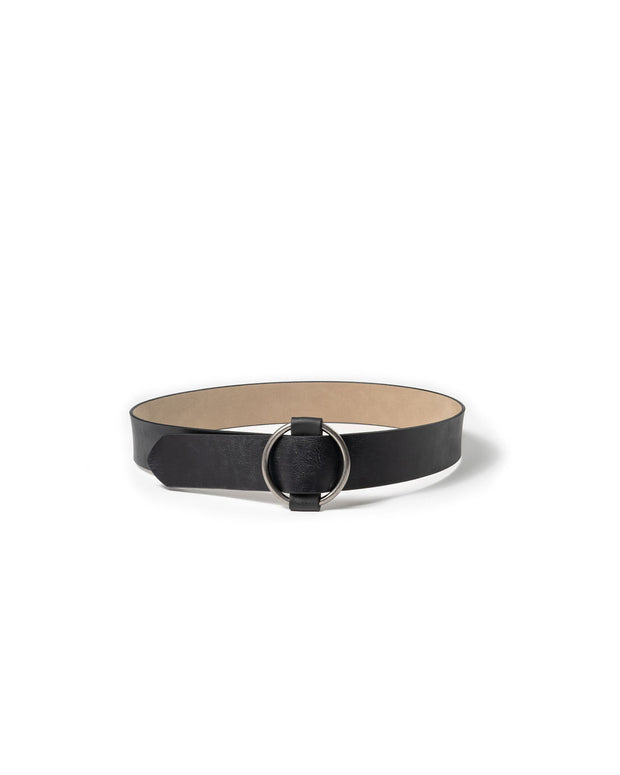 Circle Of Life Faux Leather Belt - Black