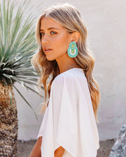 City Lights Beaded Statement Earrings - Mint view 1