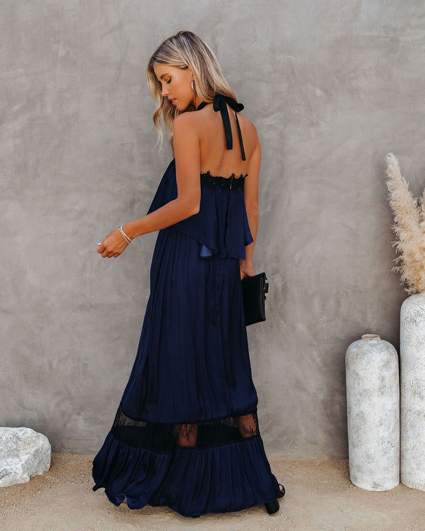 Claire Halter Lace Maxi Dress - FINAL SALE