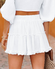 Coconuts On The Beach Cotton Ruffle Mini Skirt view 2