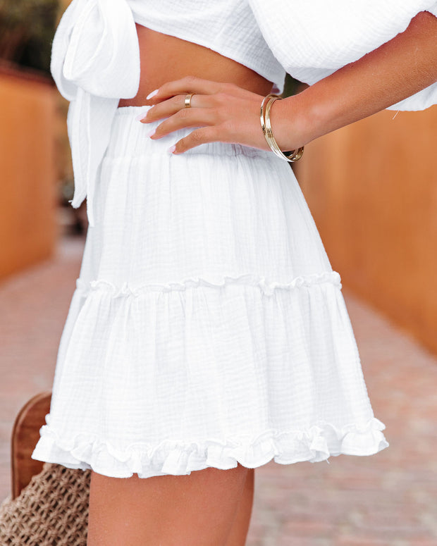 Coconuts On The Beach Cotton Ruffle Mini Skirt view 9