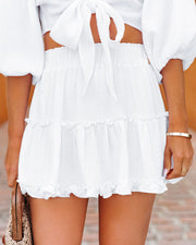 Coconuts On The Beach Cotton Ruffle Mini Skirt view 11