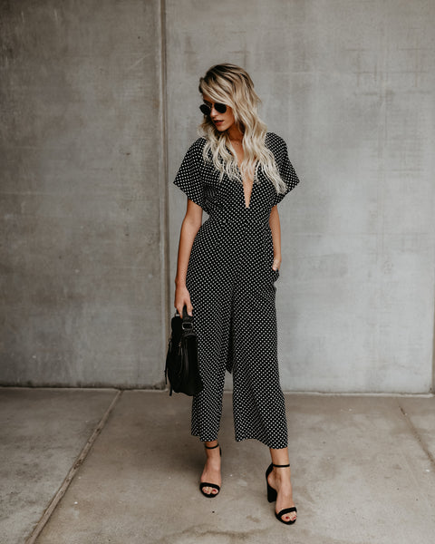 Betty Polka Dot Pocketed Jumpsuit