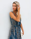 Cornflower Sleeveless Diana Maxi Dress - FINAL SALE